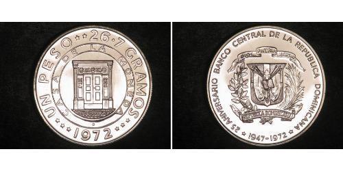 1 Peso Dominican Republic Silver