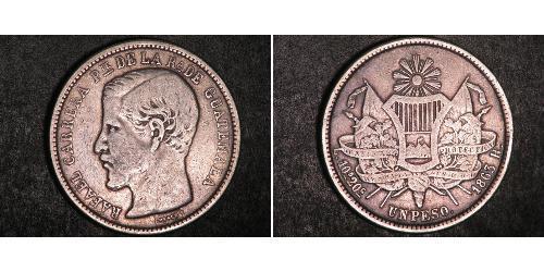 1 Peso Guatemala Silver