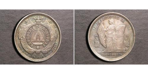 1 Peso Honduras Silver
