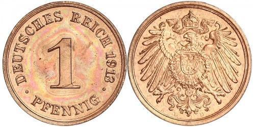 1 Pfennig 德国 銅