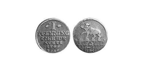 1 Pfennig Anhalt-Bernburg (1603 - 1863) Copper Victor Frederick, Prince of Anhalt-Bernburg (1700 – 1765)