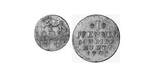 1 Pfennig Anhalt-Bernburg (1603 - 1863) Copper Alexius Frederick Christian, Duke of Anhalt-Bernburg (1767 – 1834)
