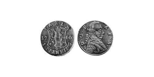 1 Pfennig Principality of Anhalt-Zerbst (1544 - 1796) Copper Frederick Augustus, Prince of Anhalt-Zerbst (1734 – 1793)