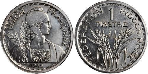 1 Piastre Französisch-Indochina (1887-1954) Kupfer/Nickel
