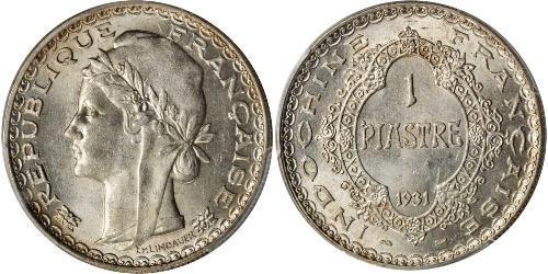 1 Piastre Indochina francesa (1887-1954) Plata