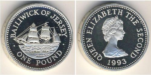 1 Pound Jersey Silver