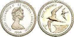 1 Pound Saint Helena (1981 - ) Silver Elizabeth II (1926-)