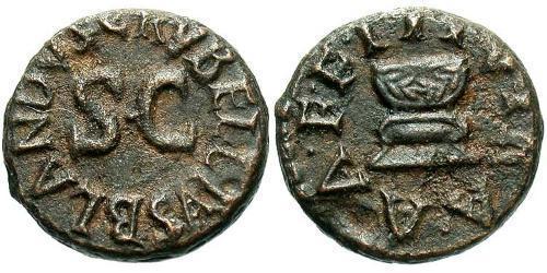 1 Quadrans Roman Empire (27BC-395) Bronze Augustus (63BC- 14)
