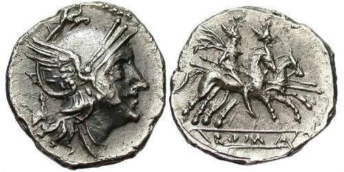 1 Quinarius Roman Republic (509BC-27BC) Silver