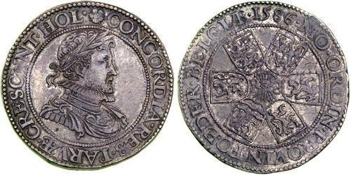 1 Real Dutch Republic (1581 - 1795) Silver Robert Dudley, 1st Earl of Leicester (1532 - 1588)