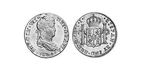 1 Real Spanish Mexico  / Kingdom of New Spain (1519 - 1821) Silver Ferdinand VII of Spain (1784-1833)