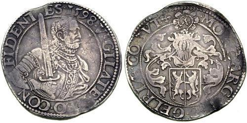 1 Rijksdaalder Dutch Republic (1581 - 1795) Silver William the Silent (1533 - 1584)