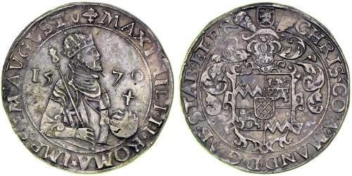 1 Rijksdaalder Kingdom of the Netherlands (1815 - ) Silver Maximilian II, Holy Roman Emperor (1527- 1576)
