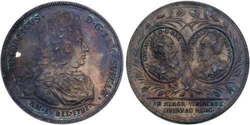1 Riksdaler Sweden Silver Frederick I of Sweden (1676 - 1751)