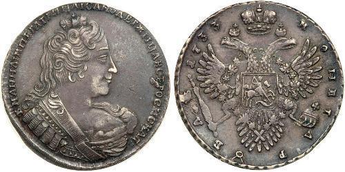 1 Rubel Russisches Reich (1720-1917) Silber Anna Iwanowna (1693-1740)