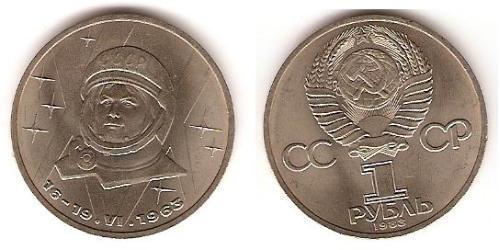 1 Rublo Unione Sovietica (1922 - 1991) Rame/Nichel