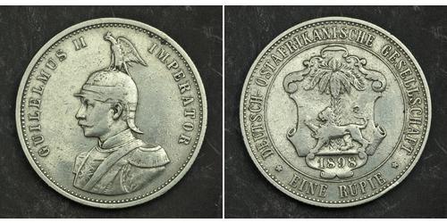 1 Rupee German East Africa (1885-1919) Silver
