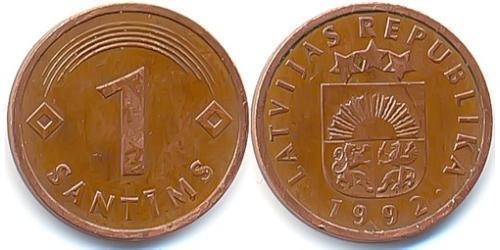 1 Santims Латвія (1991 - ) Нікель/Залізо