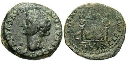1 Semissis Roman Empire (27BC-395) Bronze Tiberius Claudius Nero (42 BC-37)