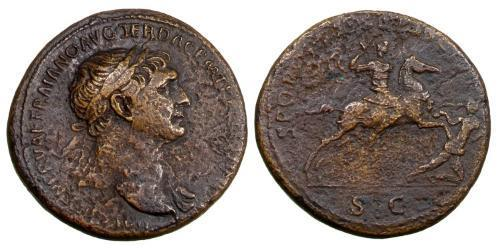 1 Sestertius Roman Empire (27BC-395) Bronze Trajan (53-117)