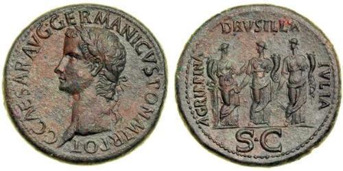 1 Sestertius Roman Empire (27BC-395) Bronze Caligula (12-41)