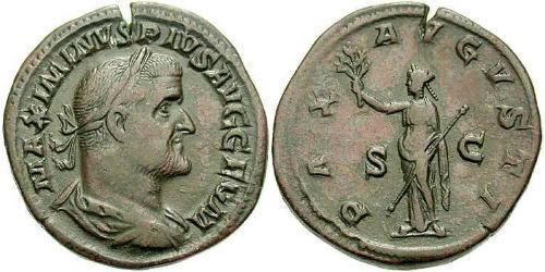 1 Sestertius Roman Empire (27BC-395) Bronze Maximinus I Thrax (173-238)