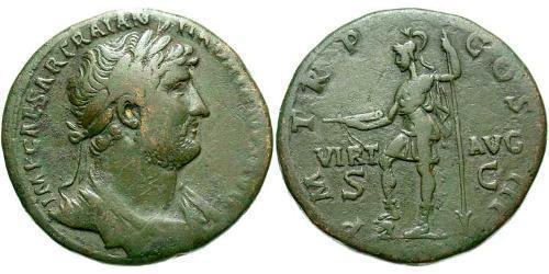 1 Sestertius Roman Empire (27BC-395) Bronze Hadrian  (76 - 138)