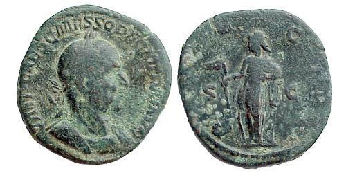 1 Sestertius Roman Empire (27BC-395) Bronze Trajan Decius (201-251)