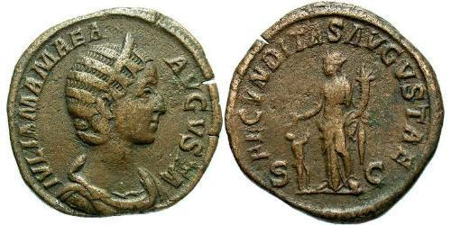 1 Sestertius Roman Empire (27BC-395) Bronze Julia Avita Mamaea (180-235)