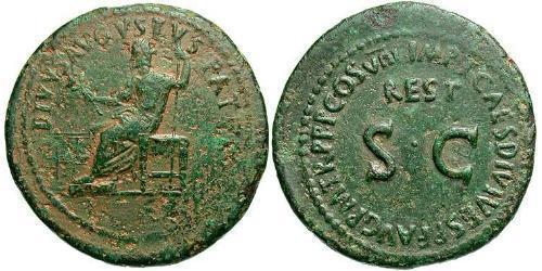 1 Sestertius Roman Empire (27BC-395) Bronze Titus (39-81)