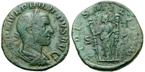1 Sestertius Roman Empire (27BC-395) Bronze Philip the Arab (204-249)
