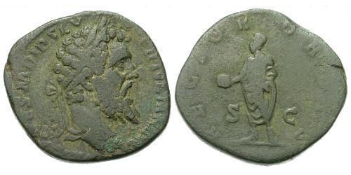 1 Sestertius Roman Empire (27BC-395) Orichalcum Didius Julianus (137-193)