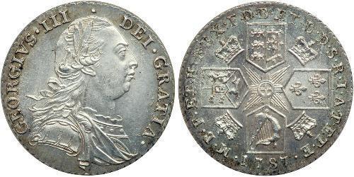 1 Shilling 大不列顛王國 (1707 - 1800) 銀 喬治三世 (1738-1820)