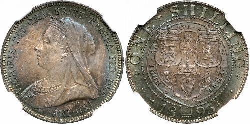 1 Shilling 大不列颠及爱尔兰联合王国 (1801 - 1922) 銀 维多利亚 (英国君主)