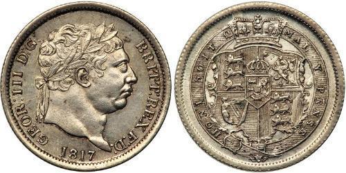 1 Shilling 大不列颠及爱尔兰联合王国 (1801 - 1922) 銀 喬治三世 (1738-1820)
