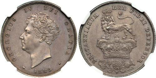 1 Shilling 大不列颠及爱尔兰联合王国 (1801 - 1922) 銀 喬治四世 (1762-1830)