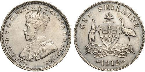 1 Shilling Ôstralie (1788 - 1939) Argent George V (1865-1936)