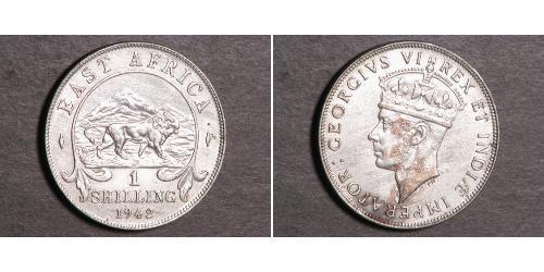 1 Shilling Africa orientale Argento Giorgio VI (1895-1952)