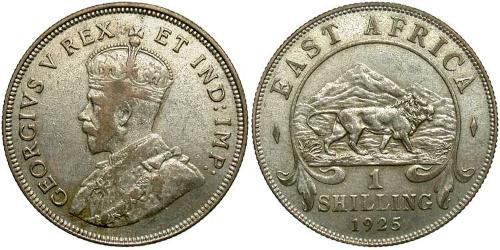 1 Shilling Africa orientale Argento Giorgio V (1865-1936)