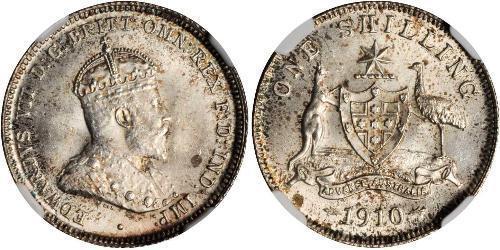 1 Shilling Australia (1788 - 1939) Argento Edoardo VII (1841-1910)