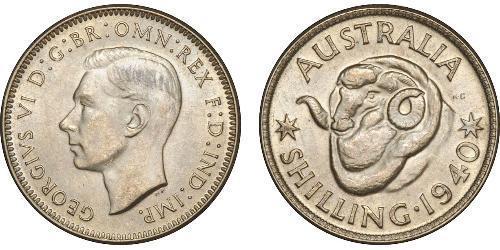 1 Shilling Australia (1939 - ) Argento Giorgio VI (1895-1952)