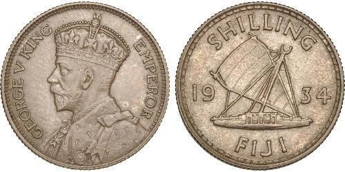 1 Shilling Figi / Impero britannico (1497 - 1949) Argento Giorgio V (1865-1936)