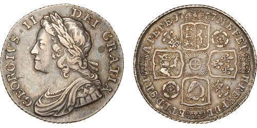 1 Shilling Regno Unito di Gran Bretagna (1707-1801) Argento Giorgio II (1683-1760)