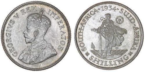 1 Shilling Sudafrica Argento Giorgio V (1865-1936)