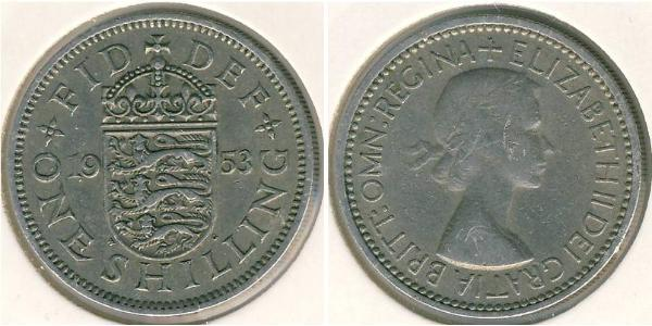 1 Shilling United Kingdom (1922-) Copper-Nickel Elizabeth II (1926-)