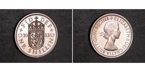 1 Shilling Feriind Kiningrik (1922-) Cuivre/Nickel Elizabeth II (1926-)