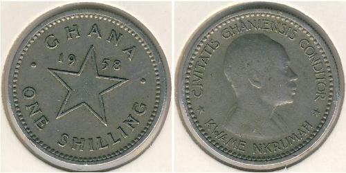 1 Shilling Ghana Kupfer/Nickel