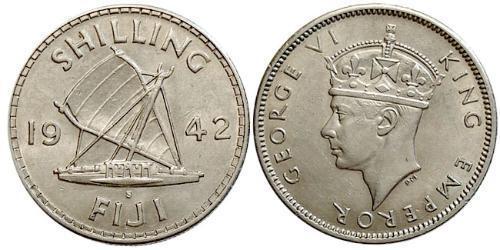 1 Shilling Fiyi Plata Jorge VI (1895-1952)