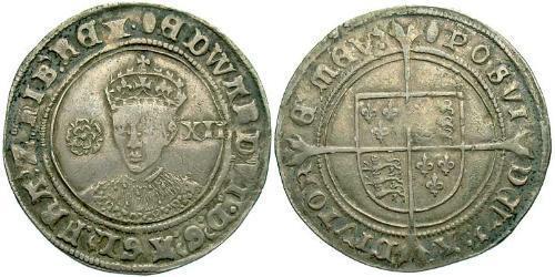 1 Shilling Reino de Inglaterra (927-1649,1660-1707) Plata Eduardo VI  (1537-1553)