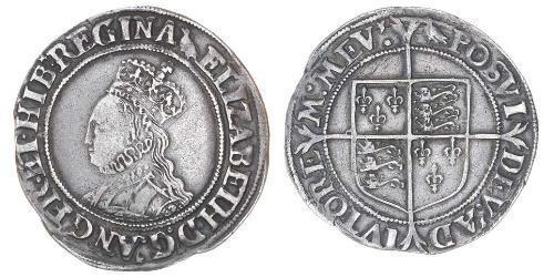 1 Shilling Königreich England (927-1649,1660-1707) Silber Elizabeth I (1533-1603)